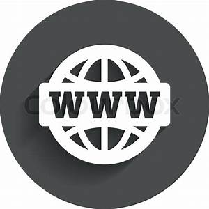WWW sign icon. World wide web symbol. Globe. Circle flat ...