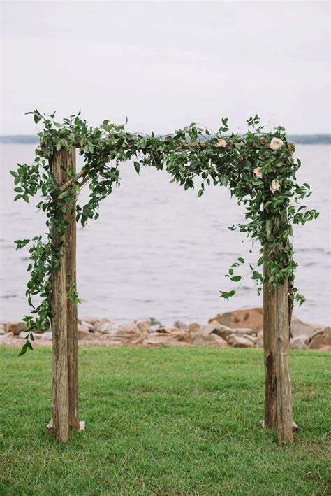 Romantic Lakeside Navy And Blush Wedding Ceremony