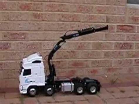 tamiya volvo  crane truck youtube
