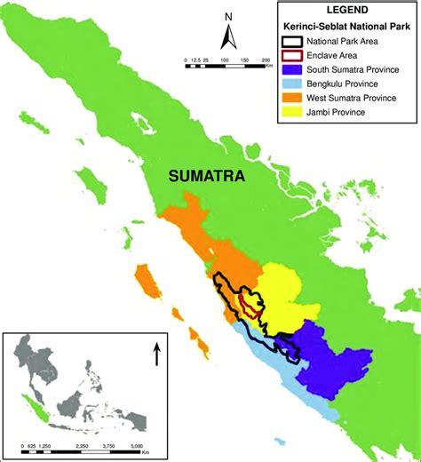 map  kerinci seblat national park indonesia  area