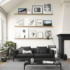 le noirblanc sinvite au salon elle decoration With deco en noir et blanc