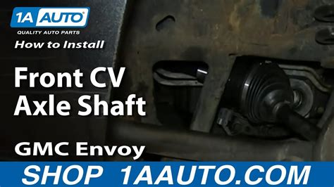 install replace front cv axle shaft   gmc