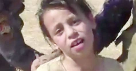 heartbreaking moment mosul girl weeps  thought youd