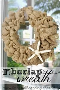 Easy DIY Burlap Wreath Tutorial | Living Well Spending Less®
