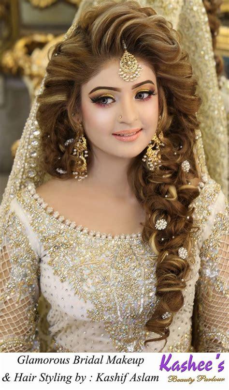 weddings hair style kashees beautiful bridal hairstyle makeup parlour 7611