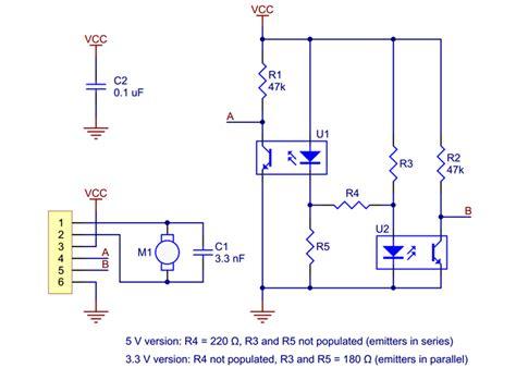 Optical Encoder Pair Kit For Micro Metal Gearmotors
