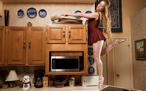 Kitchen Hair Images by Model Hair Ballerina Bare Shoulders