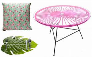 Coussin Flamant Rose : une s lection d co tropicool joli place ~ Teatrodelosmanantiales.com Idées de Décoration