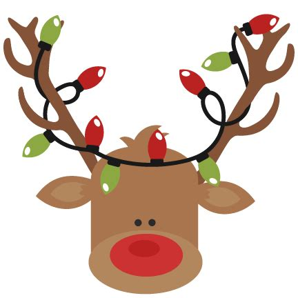 reindeer with christmas lights svg cutting files for