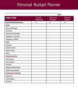 personnel budget template - 6 personal budget samples sample templates