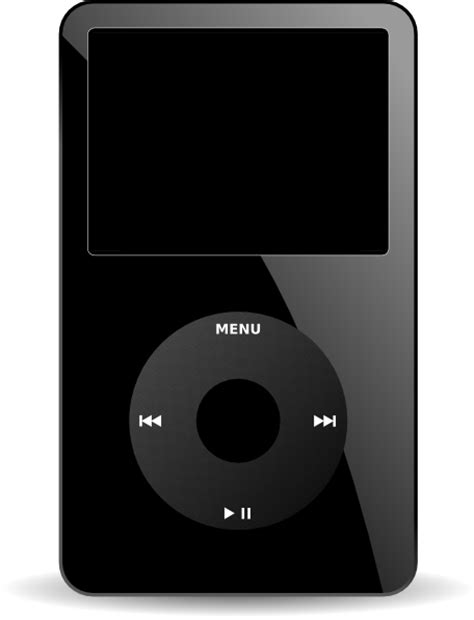 ipod clipart black and white ipod media player clip free vector 4vector