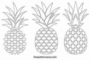 Printable Free Pineapple Silhouette Vectors | FreePatternsArea