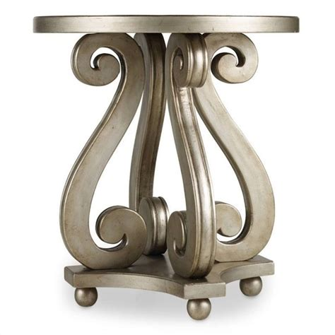 silver leaf accent table hooker furniture melange luna accent table in silver leaf