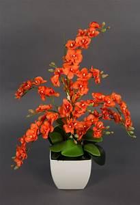 Künstliche Orchideen Im Topf : orchideen arrangement orange im wei en de topf pm k nstlicheorchidee kunstblumen ebay ~ Watch28wear.com Haus und Dekorationen