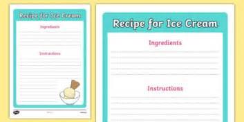 cone template twinkl editable ice cream recipe template ice cream shop