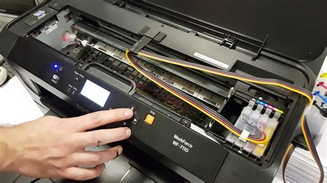 Chipless Epson WorkForce WF 7110 with Continuous Ink