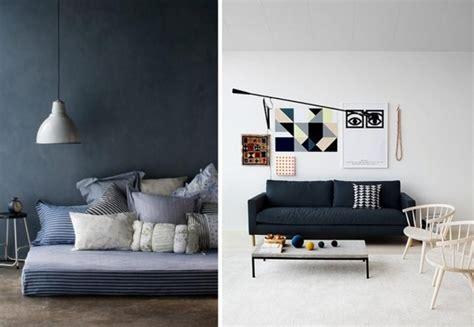 quel tapis avec canapé gris 30 intérieurs bleu marine joli place