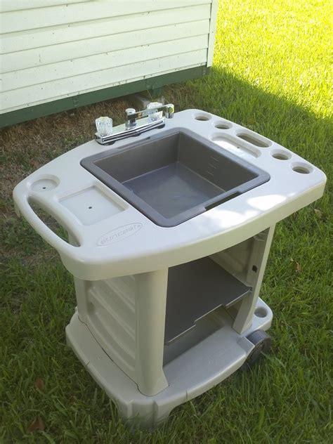 portable outdoor sink garden c kitchen cing rv new