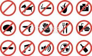 Red No Signs And Anti Symbols For Prohibited Activities Vector Art Thinkstock