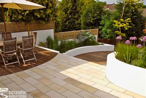 sloping garden ideas successful landscaping design tips