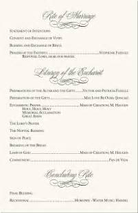 wedding mass program template calla wedding program exles catholic mass wedding