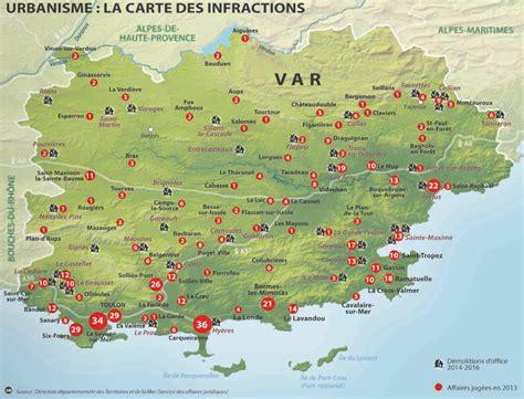 Carte Du Var Avec Toutes Les Villes by Le Var Carte D 233 Taill 233 E Voyages Cartes