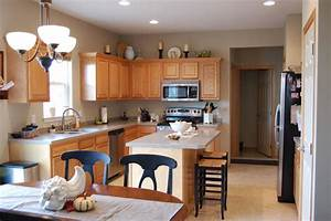 Kitchen, Remarkable, Kitchen, With, Lovely, Light, Grey, Painted, Wall, And