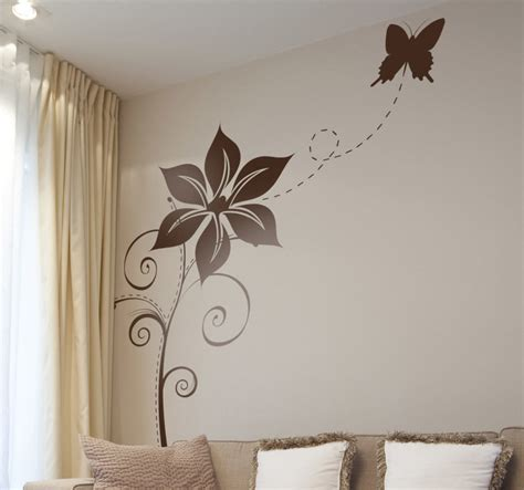 vinilo decorativo mariposa en flor tenvinilo
