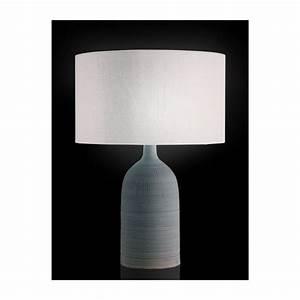 Pied De Lampe Ceramique : eluney pieds de lampe gris bleu c ramique habitat ~ Teatrodelosmanantiales.com Idées de Décoration