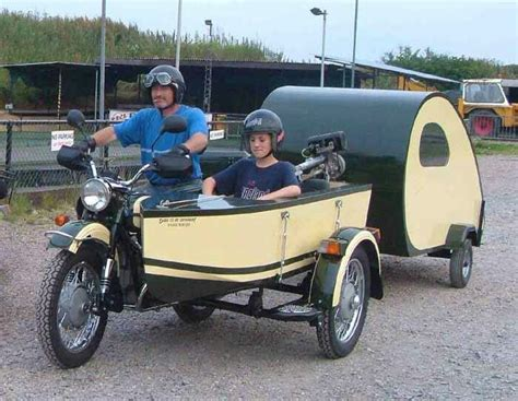 Motorcycle Boat by Motorcycle With Sidecar And Teardrop Trailer Even The