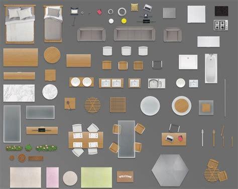 Home Design 8.0 Free Download : 2d Furniture Floorplan Top View Psd 3d Model Render