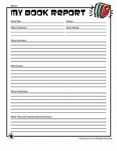 book report worksheets for first grade book reports 1st With fourth grade book report template