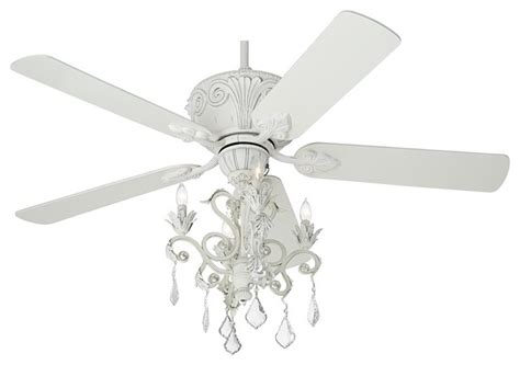 white crystal ceiling fan casa deville rubbed white chandelier ceiling fan
