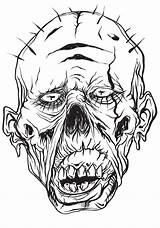 Coloring Grotesque sketch template