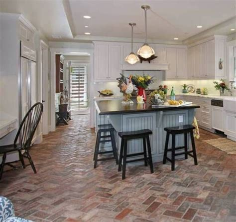 wimer s mill brick paver floor in kitchen thefloors co