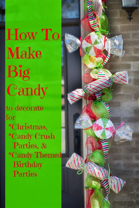 Miss Kopy Kat Make Big Candy Decorations  Crazy For Christmas  Pinterest  Candy Decorations