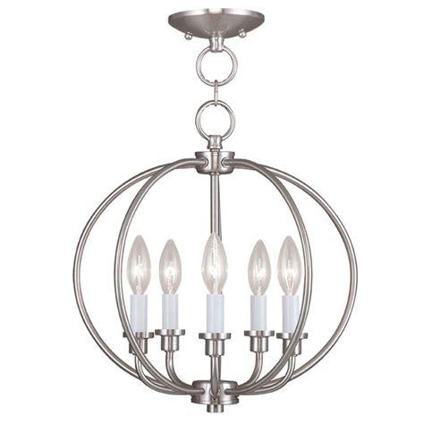 nickel semi flush ceiling lights livex lighting providence 5 light brushed nickel