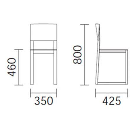 medidas silla de comedor de madera brera de pedrali