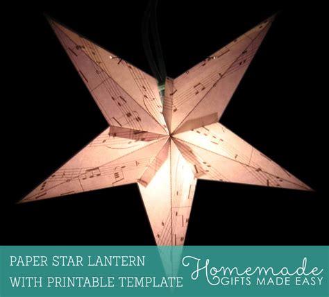 paper star lantern printable template