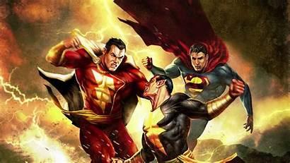 Shazam Marvel Dc Wallpapers Captain Adam Superman