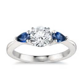 shaped engagement rings classic pear shaped sapphire engagement ring in platinum blue nile