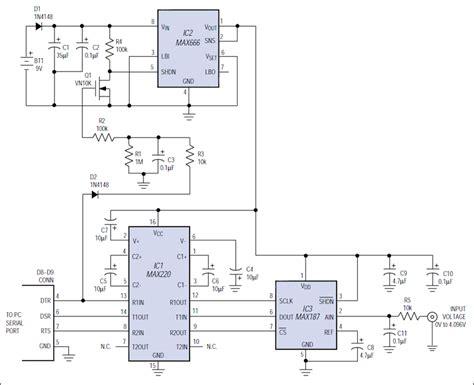 Serial Port Drives Bit Converter Maxim