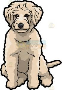 Clip Art of Golden Doodle Dog