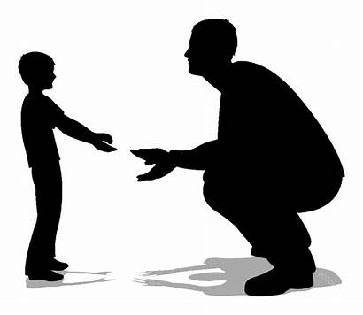 Silhouette Vector Clipart Father Son Generation Passing