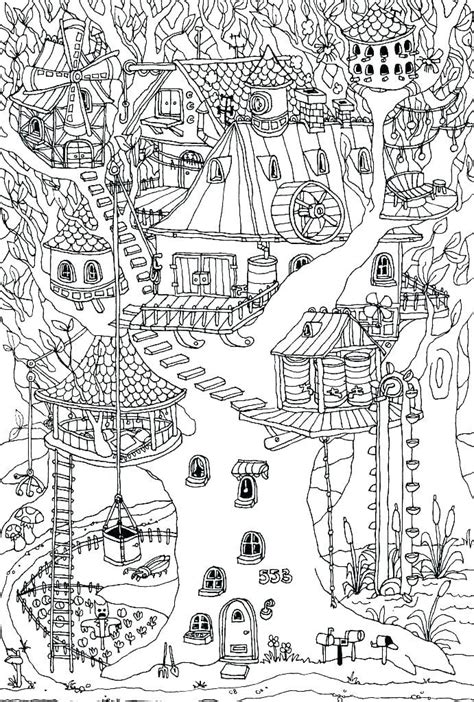 treehouse coloring pages  coloring pages  kids