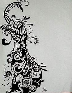Peacock Drawing Ink Tattoo Design Commissioned Tattoo In ...