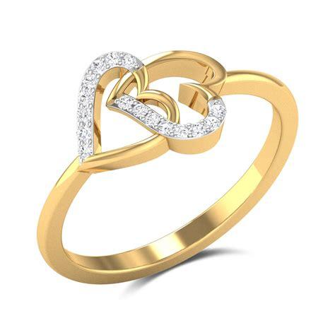 Buy Interlocking Hearts Diamond Engagement Ring In 188