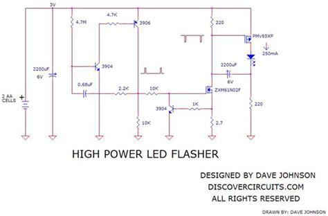 High Power Led Flasher Light Circuit