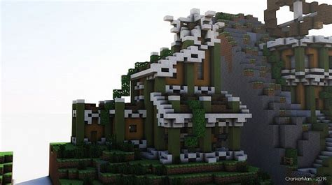 elven style houses building bundle minecraft building
