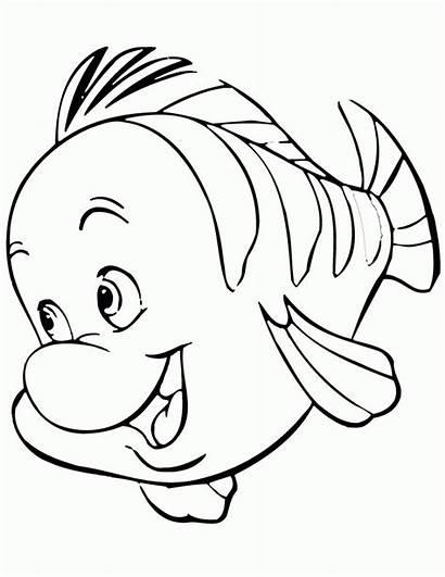 Coloring Flounder Mermaid Popular
